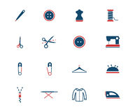 Tailoring simply icons Royalty Free Stock Images