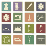 Tailoring simply icons Stock Images