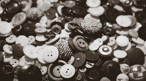 Tailoring workshop. Set of vintage buttons Royalty Free Stock Photo
