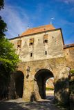 Tailors Tower or Great Tower of the Rear Gate in the medieval town of Sighisoara. Mures County, Romania Stock Photos