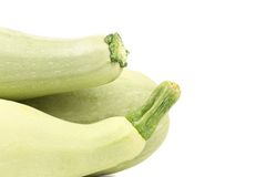 Tails of fresh vegetable marrow. Stock Photo