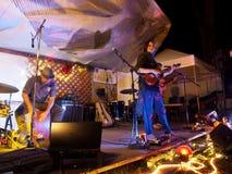 Taimane y banda que juegan en el Campout 2017 de Optimysstique Foto de archivo libre de regalías