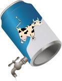 Étain avec du lait Photos libres de droits