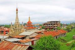 Tain Nan Pogada, Nyaungshwe, Myanmar Stock Photos