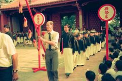 Confucius Day Commemoration Ceremony in Tainan, Taiwan royalty free stock photography