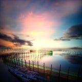 Tainan night view of the sea floor Stock Photo