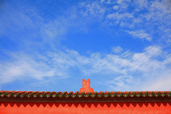 Tainan Official God of War Temples Rooftop Royalty Free Stock Photography