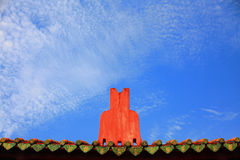 Tainan Official God of War Temples Rooftop Royalty Free Stock Photo