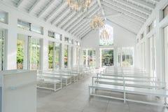 Tainan Taiwan-November 17, 2017: En vit kyrka med YinShanTang för kinesnamn` ` framtill för turism och fotoskytte Royaltyfria Foton