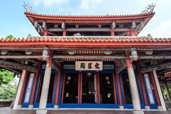 Tainan, Taiwan - November 20,2017: Wen-Chang Temples in   Chikan TowerWith Chinese Name `Wenchang Pavilion` in the Front Stock Photo