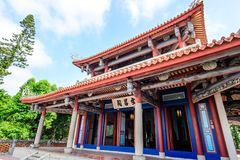 Tainan, Taiwan - November 20,2017: Wen-Chang Temples in   Chikan TowerWith Chinese Name `Wenchang Pavilion` in the Front Royalty Free Stock Images