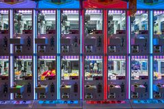 Tainan, Taiwan - September 25, 2018: Spelmachines in een pretpark royalty-vrije stock foto's