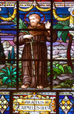 Tained玻璃窗圣伯多禄教会 库存照片