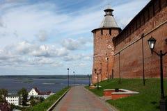 Tainitskayatoren Nizhny Novgorod het Kremlin. Rusland Stock Fotografie