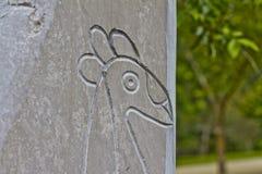 Taino Ptasi petroglify 1 Fotografia Royalty Free
