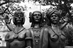 Taino, spanjor och afrikansk staty Royaltyfri Fotografi