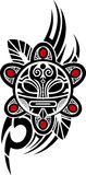 Taino Sun Tribal Vector illustration. Face mask Stock Photos