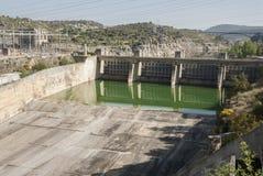 Taintor de barrage de Ricobayo Rivière Zamora Espagne d'Esla images libres de droits