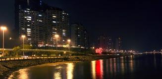 Taipa夜。 免版税库存照片