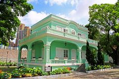 Taipa Houses Museum, Macau, China. The Taipa Houses Museum is housed in a set of old houses in Taipa, Macau, China. The museum complex consists of five houses royalty free stock image