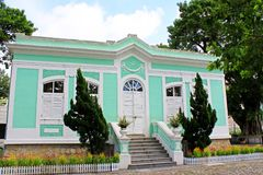 Taipa Houses Museum, Macau, China. The Taipa Houses Museum is housed in a set of old houses in Taipa, Macau, China. The museum complex consists of five houses stock photo