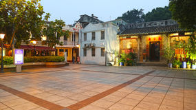 Taipa, Macao nov, 09 2016 - templo y pub de Pek Tai Imagen de archivo