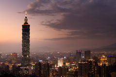 Taipeh 101, het langste gebouw in Taiwan Stock Fotografie