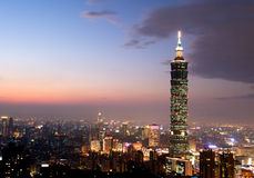 Taipeh 101, het langste gebouw in Taiwan Royalty-vrije Stock Foto