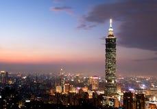 Taipeh 101, la costruzione più alta in Taiwan Fotografia Stock Libera da Diritti