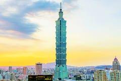 Taipeh 101 de bouw Royalty-vrije Stock Fotografie