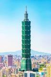 Taipeh 101 de bouw Royalty-vrije Stock Foto's