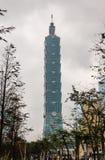 Taipeh 101 die Taipeh, Taiwan inbouwen Stock Fotografie