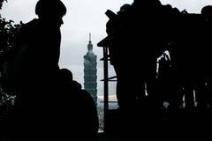 Taipeh 101 die Taiwan inbouwt Stock Foto's