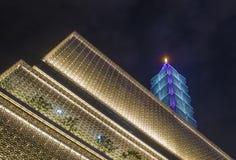 Taipeh, 101 errichtend Lizenzfreies Stockfoto