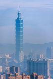 Taipeh 101, het langste gebouw in Taiwan Stock Afbeelding