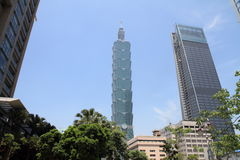 Taipeh 101, hohes Aufstiegsgebäude in Taipeh, Taiwan, ROC Stockbilder
