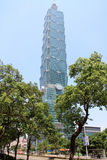 Taipeh 101, hohes Aufstiegsgebäude in Taipeh, Taiwan, ROC Lizenzfreies Stockfoto