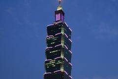Taipeh 101, hohes Aufstiegsgebäude in Taipeh, Taiwan, ROC Nachtszene Lizenzfreies Stockbild