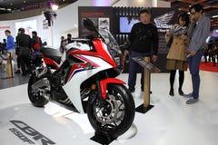 TAIPEH - 3. Januar: Honda CBR Motocycle gezeigt in Taipeh Lizenzfreie Stockfotografie