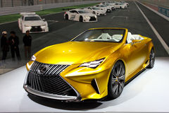 TAIPEH - 3. Januar: Lexus RC-F gezeigt an der Taipeh-International-Automobilausstellung Lizenzfreie Stockfotos