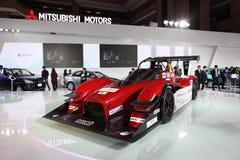 TAIPEH - 3 januari: MITSUBISHI-Raceauto Royalty-vrije Stock Foto's