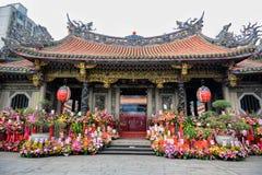 Taipeh, Longshan-Tempel, Taiwan royalty-vrije stock foto