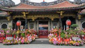 Taipeh, Longshan-Tempel, Taiwan stock foto