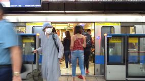 Taipeh-Metrostations-Systemplattform (Zeitversehen 4K UHD) stock footage