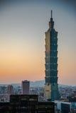 Taipeh 101, oriëntatiepunt van Taipeh, Taiwan Royalty-vrije Stock Afbeeldingen