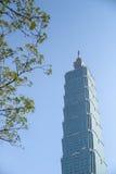 Taipeh 101, oriëntatiepunt van Taipeh, Taiwan Stock Foto's