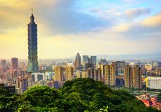 Taipeh-Stadtbild Stockbild