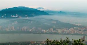 Taipeh-Stadtbild in der Dämmerung in Taiwan-Stadt stock video
