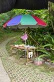 Taipeh, Taiwan, het land, niemand, de zelfbediening, het fruit en de plantaardige verkopers, schenken royalty-vrije stock foto's