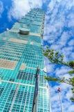 Taipeh, Taiwan - November 22, 2015: Taipeh 101 toren, mening van Stock Foto's